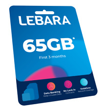 Lebera Large $39.90 Sim Kit 65GB + Unlimited Call National and to 46 Countries
