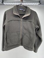 Patagonia Synchilla Brown Fleece Jacket Womens Size S Gray Full Zip USA