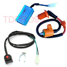 Racing Ignition Coil CDI Kill Switch Kit For 50-150cc Motorcycle Dirt Pit Bike