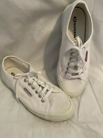 Superga White Classic Canvas 2750 COTU Sneakers Womens EUR 40 US 9 Mens 7.5