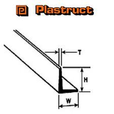 Plastruct afs-8 Confezione di 5 x angolo di 90 gradi PLASTICA MODANATURA 6,4 x 6,4 x 600mm