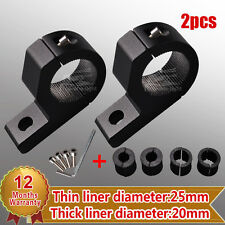 """2X 0.8"""" 1"""" 1.18"""" 25mm MOUNT BRACKET CLAMP FOR LED LIGHT ROOF ROLL CAGE TUBE BAR"""