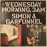 SIMON & GARFUNKEL WEDNESDAY MORNING 3AM LP CBS UK SUNBURST LABELS NEAR MINT