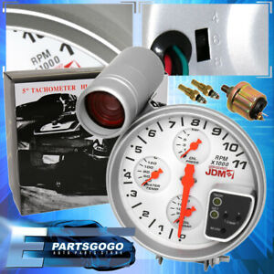 "For Mazda 5"" 11,000 Rpm Oil Water Temp Pressure 4-In-1 Combo Tachometer Gauge"