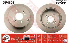 TRW Juego de 2 discos freno 262mm MERCEDES-BENZ SPRINTER HYUNDAI KIA RIO DF4803