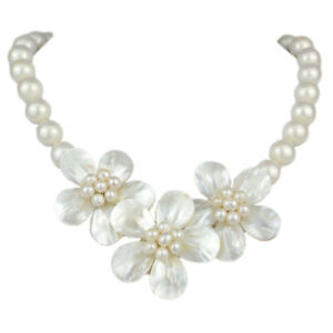 Women's Luxury Shell Pearls Pendant Necklace Evening Party Fashion Jewelry Gifts