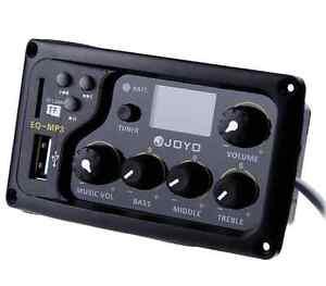JOYO EQ MP3 LCD Digital 3 Band EQ Pickup Preamp with Tuning Function