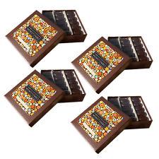 Momotombo - 4 Boîtes de Chocolats Noire-Noix de cajou et cannelle - 4x90gr