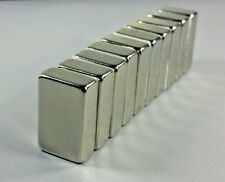 "10 Huge N52 Neodymium Block Magnets Super Strong Rare Earth 3/4"" x 1/2"" x 1/4"""