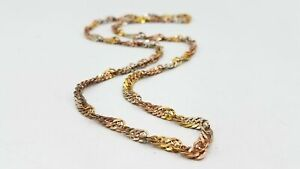 Milor 925 Silver Gold Tone Accent 5.4mm Curb Chain Necklace TS599