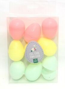 Colourful Plastic Fillable Eggs for Easter Egg Hunt Surprise Fill Your Own Eggs