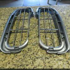 PORSCHE 986 BOXSTER OEM FACTORY(2)FRONT BUMPER GRILLS SILVER EXC. COND. 1997-02