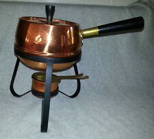 Vintage Coppercraft Guild Copper Fondue Pot chafing, warming, serving NEVER USED