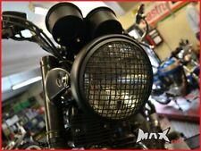 7 INCH Black Mesh Headlight Stone Guard for custom project motorcycle Headlamp