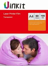 OHP Film A4 Overhead Project Clear for Laser Jet & Copier Uinkit - 60 Sheets