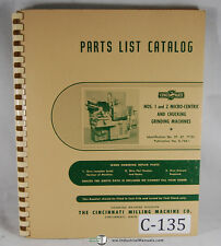 Cincinnati No. 1 and 2, Micro Centric and Chucking Machine, Parts Manual 1962