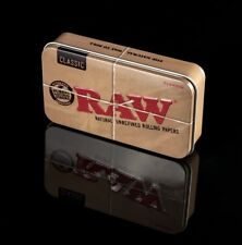 RAW Stash Tin & RAW Organic Rolling Papers + RAW Tips | Special Edition Tin