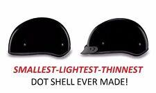 Daytona Ultra Slim DOT Skull Cap Motorcycle Helmet GLOSS BLACK-FREE SHIP