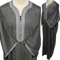 Size 56 Men Moroccan Cotton 3/4 Sleeves thobe/jubba/Djelleba.kandora.dishdash.