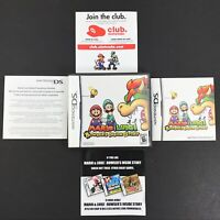 Mario & Luigi: Bowser's Inside Story Nintendo DS CASE AND MANUAL ONLY  *NO GAME*
