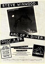 "10/1/81Pgn13 Advert: Steve Winwood Album 'arc Of A Diver' Only At Hmv 15x11"""