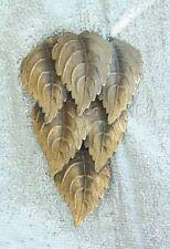 Cascade Dress Clip antique Edwardian Art Nouveau Gold-tone Leaf