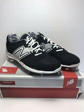 New Balance Mens Size 7 Wide Rev Lite RC Black Grey Baseball Metal Cleats Shoes