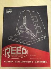 Reed Engineering Co Catalog ~ Metal Working Machines~ Positioners Welding ~ Tool
