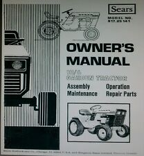 Sears Suburban 10/6 Garden Tractor & Implements Owner & Parts (4 Manuals) 82pg