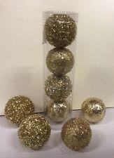 Pack x12 (3x4) oro brillo mixta Pelota/Adorno Decoración de Navidad 50-60mm