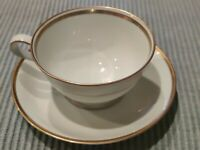 Princess House Heritage China Exclusive Cup and  Saucer Gold Trim set.
