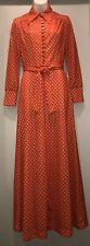 Vintage Red Polka Dot Dress Melissa Lane 1970s Rare Button Front EUC Sz 8