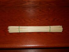 """12"""" Wooden Bamboo BBQ Skewers for Grilling Shish Kebab Appetizers Fruit ~ 50 pk"""