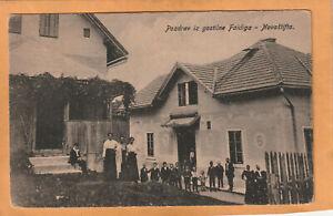 Posdrav iz Gostilne Faidiga Novstaifta Slovenia 1910 Postcard