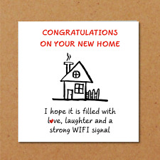 New Home Card / New House Card - Congratulations Funny Humorous