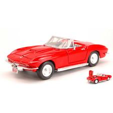 CHEVROLET CORVETTE 1967 RED 1:24 MotorMax Auto Stradali Die Cast Modellino