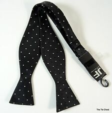 Bow Tie Self Tie Bowtie Sparkly Polka Dot Black Formal