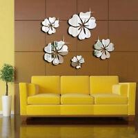 Blüte Blumen Spiegel Wandtattoo Aufkleber Sticker Wohnzimmer Bad-Wand w/