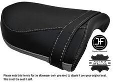 BLACK & GREY CUSTOM FITS YAMAHA V MAX 1700 09-16 REAR LEATHER SEAT COVER