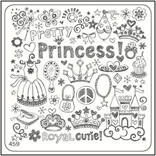 MoYou Square Stamping Art Image Plate 459 Trendy Style, Princess, Full Manicure