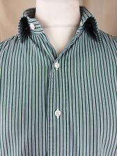 "Polo by Ralph Lauren Regent Custom Fit Green Blue White Stripe Shirt 16.5"" C44"""