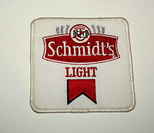 Vintage Schmidt's Brewing Light Beer Distributor White Cloth Patch 1980s NOS New