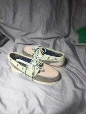 VINTAGE TIMBERLAND  Boat SHOES Pink Gray Suede Womens size 7.5 M
