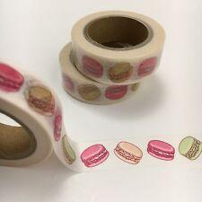 French Macaron Pink Green Washi Tape 15mmx10m