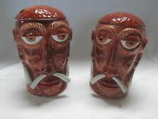 Two Vintage Mr Bali Hai Tiki Mugs Concave Bottom OMC Japan San Diego Calif