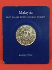 Malaysia 10 Ringgit Tun Abdul Razak 1976-1980 Silver Coin (OC496)