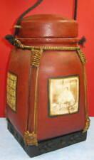 pot à thé vietnam tressé et carton bouilli, Déco, 30 cm