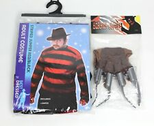 Halloween Red Black Jumper And Horror Claw Glove Freddy Nightmare