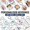 Personalised Printed Custom Keyring Photo Key Fobs Keychain Promotional Keyrings
