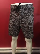 OCEAN & EARTH Men's Gray/Black Surf Board Shorts - Size XL - NWT